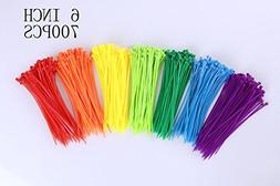 Mini Skater 6 Inch Assorted Colored Nylon Cable Wire Ties He
