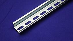 10 Pcs Slotted Design Steel DIN Mounting Rail- 1m Length x 3