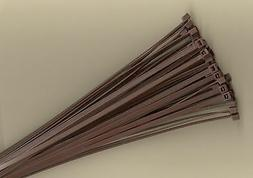 """100 14"""" Inch Long 50# Pound BROWN Nylon Cable Zip Ties Ty Wr"""