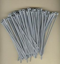 """100 5"""" Inch Long 40# Pound GRAY GREY NYLON Cable Ties Zip Ty"""