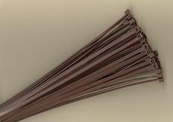 """100 BROWN 8"""" Inch Long 40# POUND Nylon Cable Zip Ties Ty Wra"""