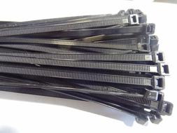 100 PACK 6 INCH ZIP TIES NYLON BLACK 50 LBS WEATHER RESISTAN