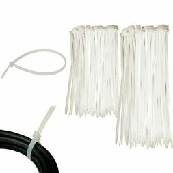 """100 Pc Cable Zip Ties 6"""" 8"""" Inch Clear Nylon Wire Cords Uv R"""