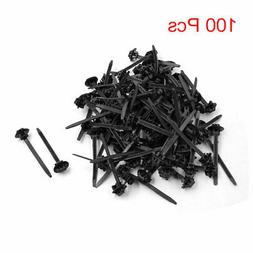 100 pcs black plastic nylon cable ties