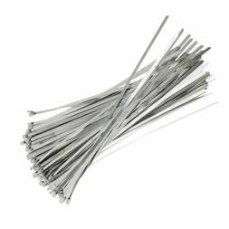 """100 Pcs Stainless Steel 12"""" Exhaust Wrap Coated Metal Lockin"""