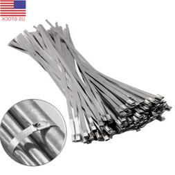 100 Pcs Strong Stainless Steel Grade Metal Self Locking Cabl