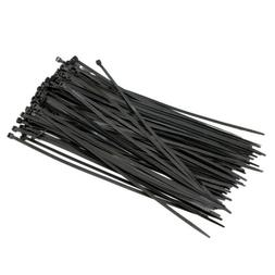 """Cable Cord Wire ZIP Ties Straps 4 inch 18LBS Nylon 100 PSC Black 4/"""" Pack"""