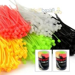 "1000 Pack 4"" In Cable Ties Zip Tie Assortment Multi Colors S"