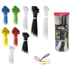 1000 Pc Cable Ties Assorted Color Size Zip Tie Nylon Wire Ho