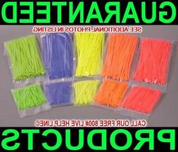 1000 PC FLUORESCENT COLOR NYLON CABLE ZIP TIES WIRE WIRING M