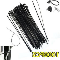 "1000 PCS 12"" Nylon Plastic Zip Trim Wrap Cable Loop Ties Wir"