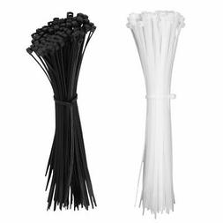 "1000pcs 8"" 12"" Self-Locking Nylon Plastic Wrap Zip Ties Cord"