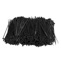 1000Pcs/Set 100mm x 1.8mm Self-Locking Black Nylon66 Wire Ca