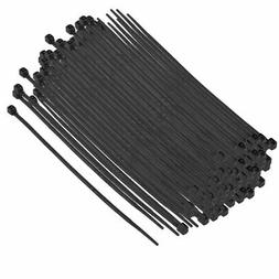 100Pcs 97mm Length Black Plastic Self Locking Cable Zip Ties