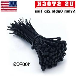 100pcs cable ties zip nylon cord wire