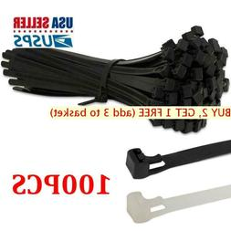 100Pcs Releasable Nylon Releasable Cable Ties Extra Large Zi