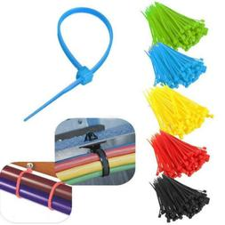 100pcs Upscale Colorful Self-locking Zip Ties Electric Nylon