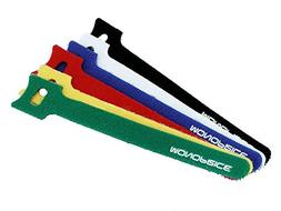 Monoprice 106463 6-Inch Hook and Loop Fastening Cable Ties,