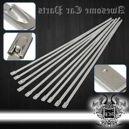 "12"" 10 Pieces Stainless Steel Cable Cord Zip Tie Safety Self"