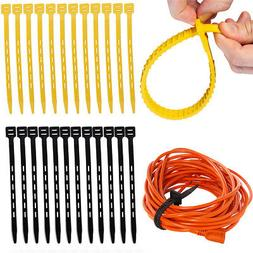 "12pk Reusable 13"" Rubber Zip Ties for Home Garden Office G"