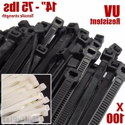 14 inch cable ties 100 pack 75
