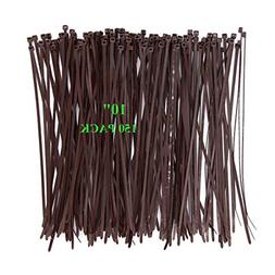 150Pack Strong Wood Brown Color Standard Durable Cable Zip T