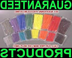 1600 COLOR NYLON CABLE ZIP TIES WIRE WIRING WRAP CODE MARKIN
