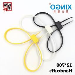 1Pcs/Lot 12mmx700mm 12x700 12*700 plastic police handcuffs D