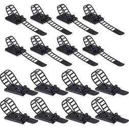 INNKER 50pcs 2 Sizes Nylon Cable Straps with Screw Mount Sel