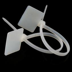20/100PCS Cable Zip Ties Ethernet Wire Power Label Mark Tags