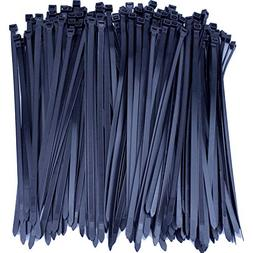 200 Premium Heavy Duty Zip Ties | Black Nylon Cable Ties | X