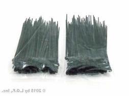 200 PACK 4 INCH ZIP CABLE TIES NYLON BLACK 18 LBS UV WEATHER