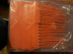 200 Pack Red Security Seal Pull Tie Tags Plastic Secure Anti