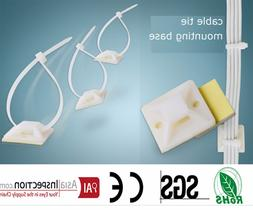 25*25mm Square Self-adhesive plastic cable <font><b>tie</b><