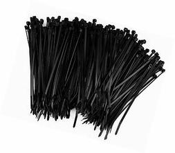 250 Premium Heavy Duty 6 Inch Zip Ties | Black Nylon Cable T