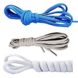 Oval Shoelaces,CaseHQ Flat Braided Shoe Laces Half Round 1/4