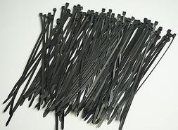 "50 LB HEAVY DUTY 100 PC. 8"" Long BLACK UV Cable Zip Ties Ty"
