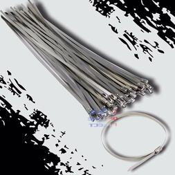 "36"" Stainless Steel Exhaust Wrap UL Approved Locking Cable Z"