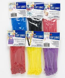 "4"" Cable Ties Zip Tie 4 Inch ~ 6 Different Colors or Mix  Ny"