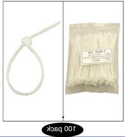 4-inch Nylon Cable Zip Ties, 18lbs, Clear