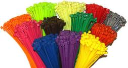 4 multi color nylon cable ties tie