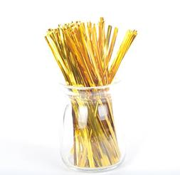 "1600 pcs 5.9""/15cm Metallic Twist Tie for Bakery Candy Lolli"