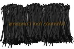 "500 Pieces UV Black 50 Lb 8"" Long Cable Zip Ties Made in USA"