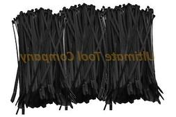 "500pc Black UV Cable Zip Ties 8"" Long 50 Pound Heavy Duty In"