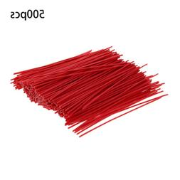 500Pcs Cable Ties Zip Tie-Wrap Round Fasten Wire Cord Bolt D