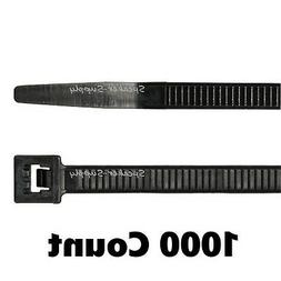 "ACT 11"" Medium Length Cold Weather Zip Ties Black 1000 Pack"