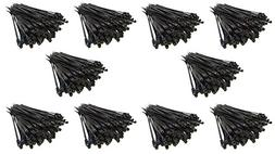 "1000 Pack 7"" Metra Mounting Hole Zip Ties Nylon Black Nail"