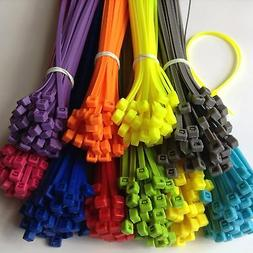 "8"" ASSORTED COLOR Network Cable Cord ZIP Wire Tie Strap 40 L"
