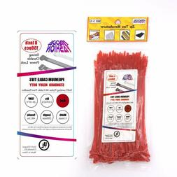 8 Inch Heavy Duty 48 lbs Wire Cable Zip Ties For Garden Offi