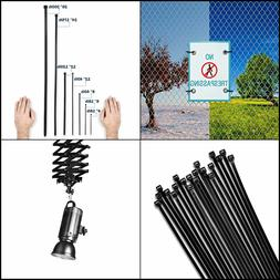 """8"""" Zip Ties 1,000 Pack 40lb Strength Black Nylon Cable Wire"""
